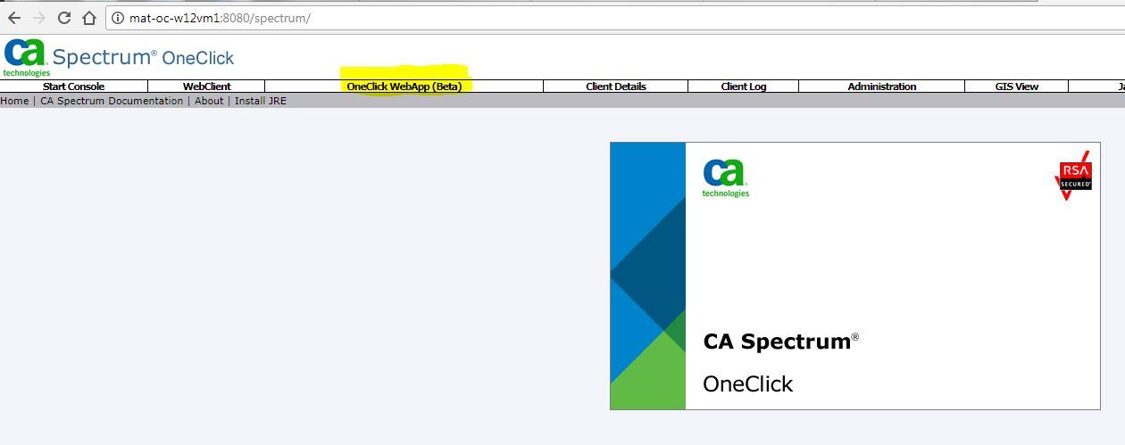 OneClick WebApp (Beta)