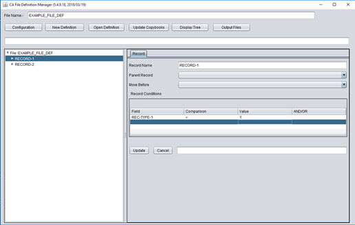 Create an Advanced File Layout (AFL) with File Definition